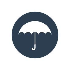 Umbrella flat icon. Safety, protection, rain, autumn season conc