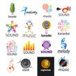 Zdjęcia na płótnie, fototapety, obrazy : set of vector logos music and sounds