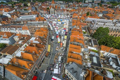 Keuken foto achterwand Antwerpen Tournai Market in Belgium.
