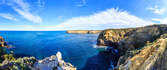 seascape and skyline of the great ocean road, australia
