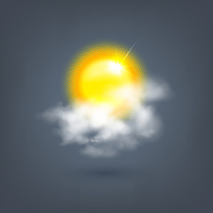weather sun icon in the cloud