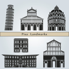 Pisa landmarks and monuments