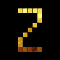 Vector illustration of shiny gold letter - Z
