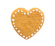 Gingerbread cookie in the shape of a heart - 73374753