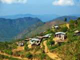 Village on the way from Kalaw town to Inle Lake in Myanmar