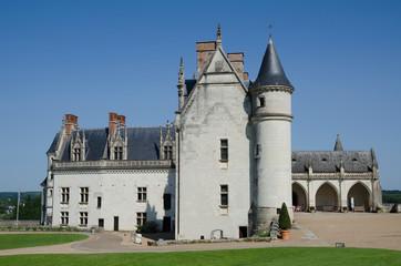 Chateau de Amboise medieval castle France, Europe.