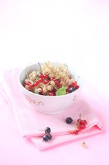Red, White and Black Currants in a bowl