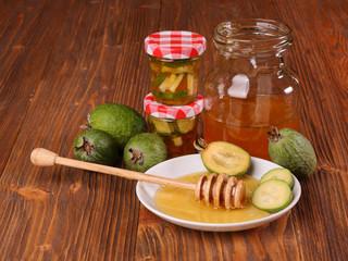 Feijoa Fruits with honey