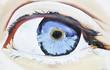Blue eye graffiti