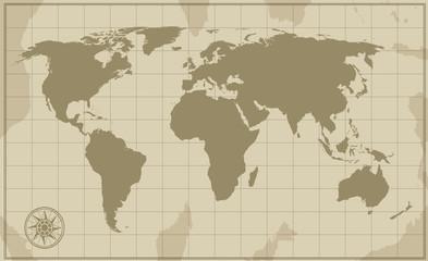 Old Vintage World Map