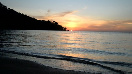 Sunset on the beach. Koh Chang