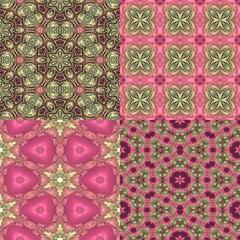 four seamless floral textures