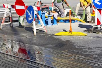 Repair of water pipes
