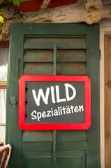 Wildspezialitäten