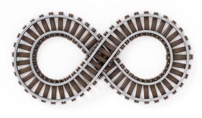 Infinity symbol shaped railroad.
