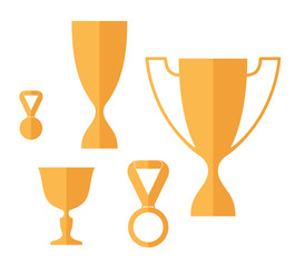 Trophy. Icon set