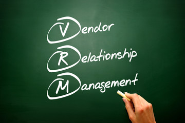 Conceptual VRM acronym Vendor relationship management