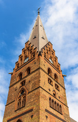 Belfry of St Petri Cathedral in Malmo, Sweden