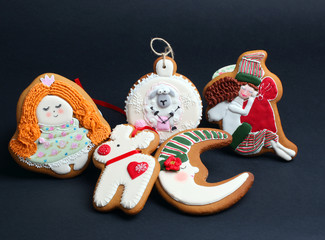 Christmas gingerbread cakes by the year sheep