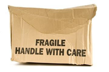 Crushed Fragile Box