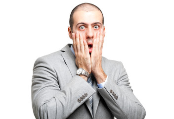 Shocked businessman portrait