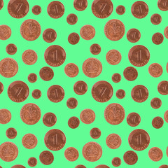 Lucky coin seamless pattern