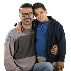 Cute Boy and his Father