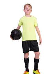 Kind und Fußball