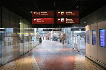 Hall of Munich International airport, Germany