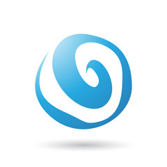 Blue Swirl Abstract Icon