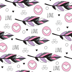 colorful feather pattern vector illustration