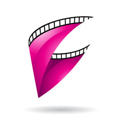 Magenta Glossy Film Reel icon