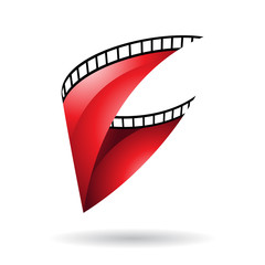 Red Glossy Film Reel icon