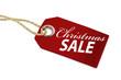 canvas print picture - Holzanhänger mit Christmas SALE