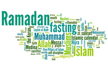 Ramadan - tag cloud