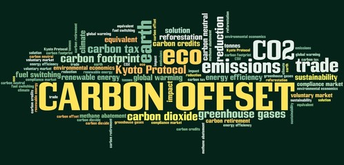 Carbon offset - tag cloud
