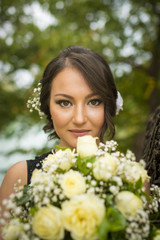 Beautiful Bride Portrait with flowers