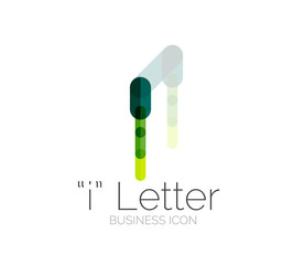 I letter logo, minimal line design