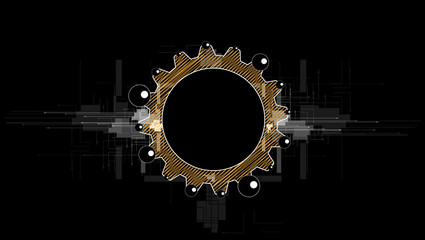 machine technology gears. retro gearwheel mechanism bacground