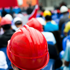 construction workers with helmet