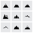 Vector mountains icon set - 73379333