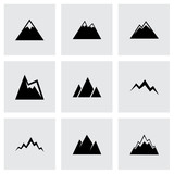 Vector mountains icon set - 73379333