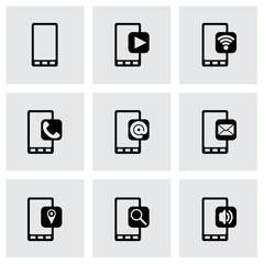 Vector mobile icon set
