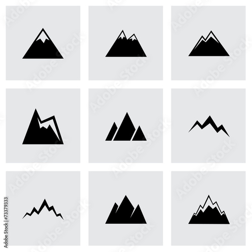 Vector mountains icon set