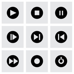 Vector media buttons icon set