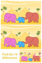 Find the ten differences between two illustrations