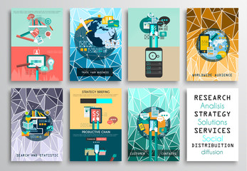 Set of Flyer Design,infographics flat. Brochure Designs