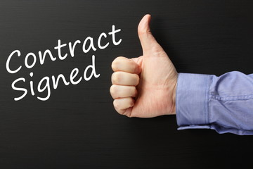 Thumbs up for a Contract Signed