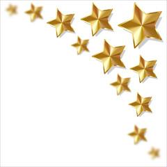 Sterne Gold Ecke oben rechts
