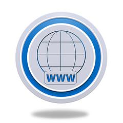 www circular icon on white background